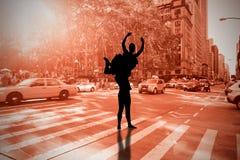 Immagine composita di allungamento della ballerina Fotografie Stock