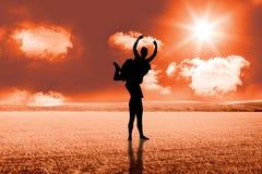 Immagine composita di allungamento della ballerina Fotografia Stock Libera da Diritti