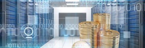 Immagine composita di bitcoin Fotografia Stock Libera da Diritti