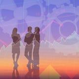 Immagine composita di conversazione dei colleghi di affari Immagine Stock