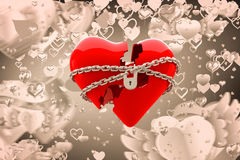 Immagine composita di cuore bloccato 3d Immagine Stock Libera da Diritti