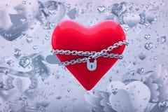 Immagine composita di cuore bloccato 3d Immagine Stock