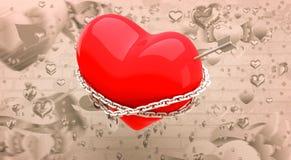 Immagine composita di cuore bloccato 3d Fotografia Stock Libera da Diritti