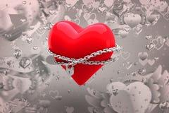 Immagine composita di cuore bloccato 3d Fotografie Stock Libere da Diritti