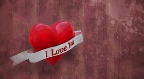 Immagine composita di cuore con il rotolo 3d Fotografie Stock