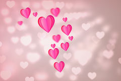 Immagine composita di cuore 3d Fotografia Stock Libera da Diritti