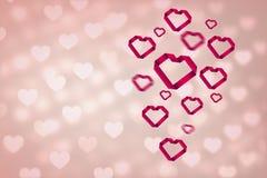 Immagine composita di cuore 3d Immagine Stock