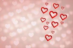 Immagine composita di cuore 3d Fotografie Stock
