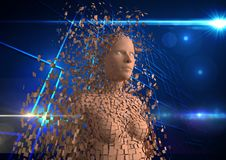 Immagine composita di Digital dell'essere umano 3d Fotografia Stock Libera da Diritti