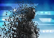 Immagine composita di Digital dell'essere umano 3d Immagine Stock Libera da Diritti