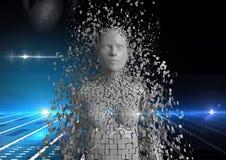 Immagine composita di Digital dell'essere umano sparso 3d Fotografie Stock Libere da Diritti