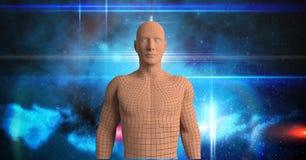 Immagine composita di Digital della figura dell'essere umano 3d Fotografie Stock