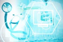 Immagine composita di fondo digitale con il segno di emergenza Fotografia Stock Libera da Diritti