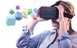 Immagine composita di galleggiamento colourful dei cubi 3d Immagini Stock Libere da Diritti