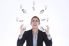 Immagine composita di gesturing arrabbiato della donna di affari Immagine Stock