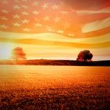 Immagine composita di increspatura digitalmente generata della bandiera americana illustrazione di stock