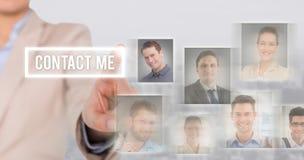 Immagine composita di indicare della donna di affari Fotografia Stock