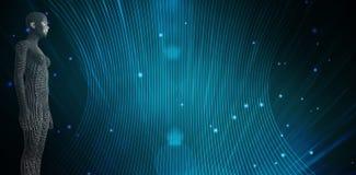 Immagine composita di integrale della donna 3d Immagine Stock