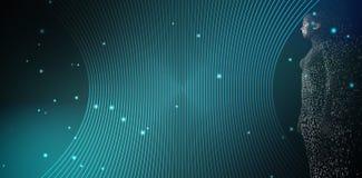 Immagine composita di integrale della donna pixelated 3d Immagine Stock