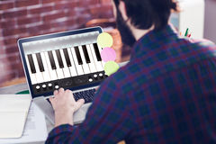 Immagine composita di musica app Fotografia Stock Libera da Diritti