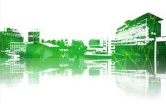 Immagine composita di paesaggio urbano Fotografia Stock