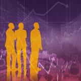Immagine composita di sguardo degli uomini d'affari Fotografie Stock Libere da Diritti