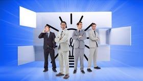 Immagine composita di stare degli uomini d'affari Immagini Stock