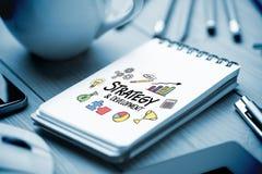 Immagine composita di strategia e dello scarabocchio di sviluppo Fotografie Stock