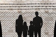 Immagine composita di tenersi per mano allegro della famiglia Fotografia Stock Libera da Diritti