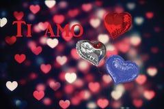 Immagine composita di Ti AMO Fotografie Stock