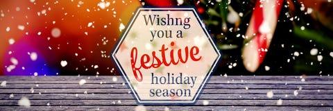 Immagine composita di wishng voi le ferie festive fotografia stock libera da diritti
