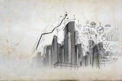 Immagine con i disegni della mano Fotografie Stock Libere da Diritti