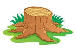 Immagine con il tema 1 della radice dell'albero Fotografia Stock