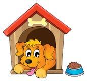 Immagine con il tema 1 del cane Immagini Stock Libere da Diritti
