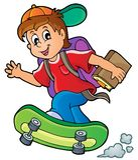 Immagine con il tema 1 del ragazzo di scuola Fotografie Stock Libere da Diritti