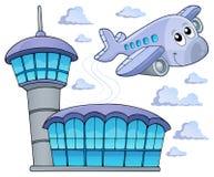 Immagine con il tema 6 dell'aeroplano Immagine Stock