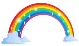 Immagine con il tema 1 dell'arcobaleno Fotografia Stock Libera da Diritti