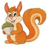 Immagine con il tema 1 dello scoiattolo Fotografie Stock Libere da Diritti