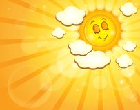 Immagine con il tema felice 4 del sole Fotografie Stock