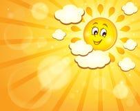 Immagine con il tema felice 7 del sole Fotografie Stock Libere da Diritti