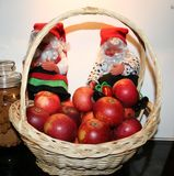 Immagine con le mele svedesi - Ingrid Marie di Natale fotografia stock libera da diritti