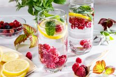Immagine con una bevanda fotografie stock