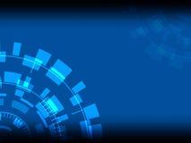 Immagine, concentrazione e rotazione astratte tecnologiche, - Illu Immagini Stock
