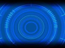 Immagine, concentrazione e rotazione astratte tecnologiche, - Illu Fotografia Stock Libera da Diritti