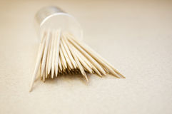 Immagine concettuale dei Toothpicks. fotografie stock libere da diritti