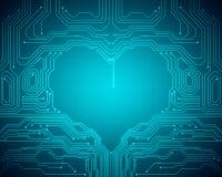 Immagine concettuale del fondo del simbolo digitale del cuore Fotografie Stock Libere da Diritti