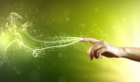 Immagine concettuale delle mani magiche Immagini Stock Libere da Diritti