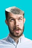 Immagine concettuale di un uomo di mentalità aperta Fotografie Stock