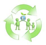 Immagine concettuale - protezione di un ambiente Immagini Stock Libere da Diritti