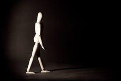 Immagine concettuale sola ambulante Fotografia Stock